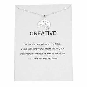 Silver Mouse Creative Necklace